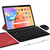 5G Tablette Tactile Android 10.0 WiFi Tablettes 10 Pouces, 4Go RAM + 64/SD 128Go ROM, Certification...