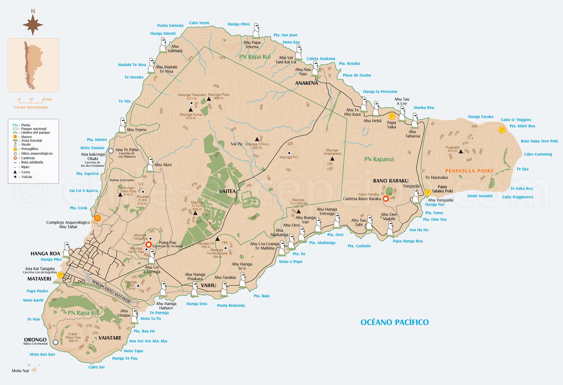 Carte - Ile de Paques