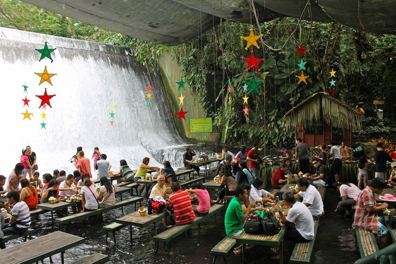 waterfall-restaurant-san-pablo-philippines