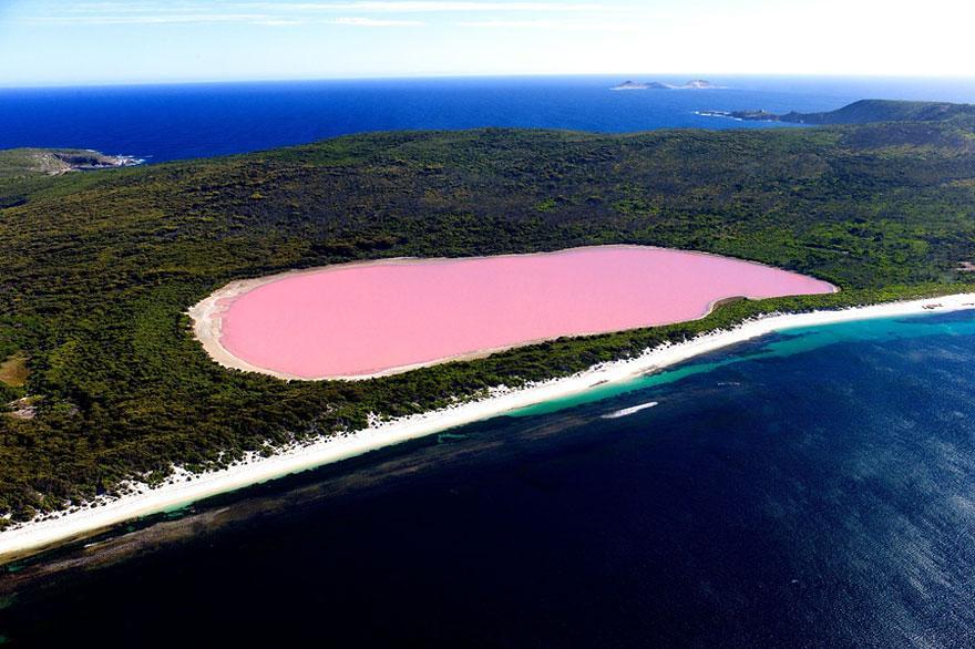 11. Lake Hillier - Australia