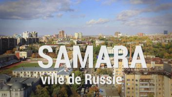 Samara - ville de Russie au bord de la Volga