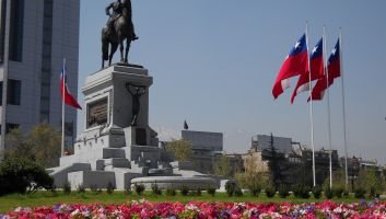 Santiago De Chile Baquedano General Monument