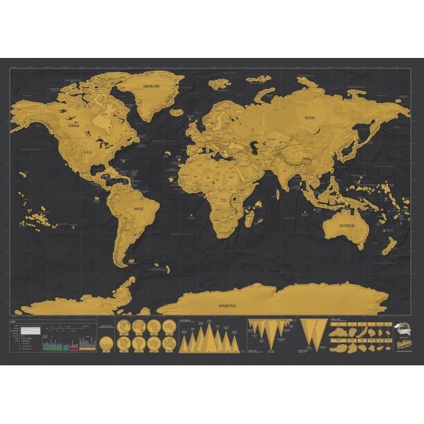 Quelle est la meilleure carte du monde à gratter en 2018
