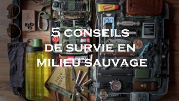 5 conseils de survie en milieu sauvage