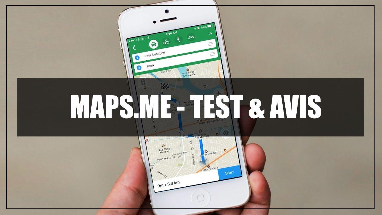 Application Maps.me - Test & Avis